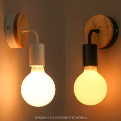 Wooden Base Wall Lights