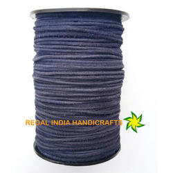 Navy Blue Round Suede Leather Cord