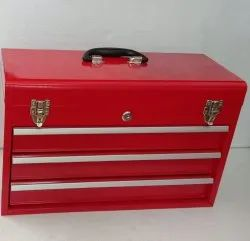 3 DRAWER METAL BOX WITH KEY