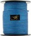 Blue Metallic Round Leather Cord