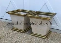 Marble Gold Planters