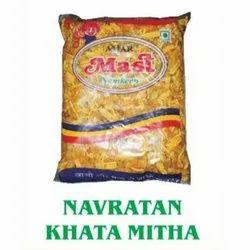 Khatta Meetha Navratan Mix Namkeen, Packaging Size: 180 Gm, 500 Gm And 1 Kg, Packaging Type: Packet