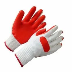 Rubber Coated Gloves For Construction