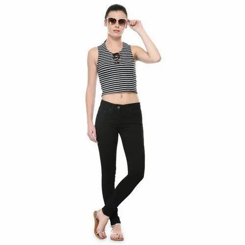 Westwood Women' s Black  Stretchable Denim Jeans