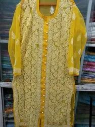 Eight Colour Casual Wear Georgette Front Open Style Long Kurti