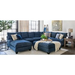 Blue Designer L Shape Sofa Set