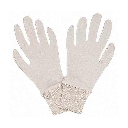 Full Finger Men White Knitted Hand Glove