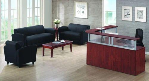 Black Office Reception Sofa Set