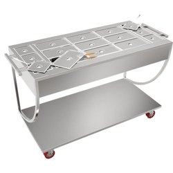 Stainless Steel Snacks Trolley