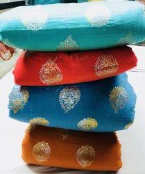Ethnic Legend Printed Pure Silk Fabric, GSM: 45