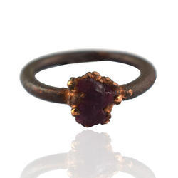 Ruby Rough Electroformed Rings