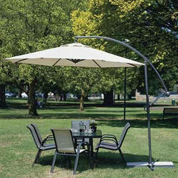 Designer Furniture Cantilever Umbrella, Size: 9 Ft Round