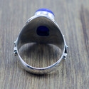 925 STERLING SILVER NEW FASHION JEWELRY LAPIS LAZULI GEMSTONE RING WR-5214