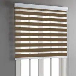 Brown Vertical PVC Window Roller Blind