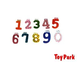 Magnetic Wooden Numbers (ET 247)