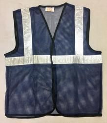 Reflective Vizwear Vests / Jackets 2 Blue Front Opening In Mesh Fabric
