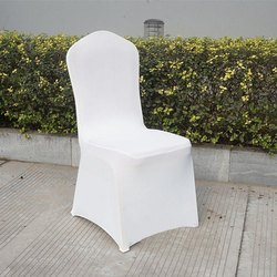 White Plain Satin Chair Cover, 150 To 200 Gsm