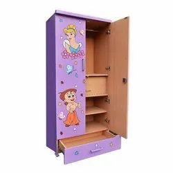 Modern Kids Wooden Wardrobe, for School, Size/Dimension: 2.5 L X 1.5 D X 6 H Feet