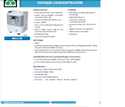 Oxygen Concentrator Single Flow