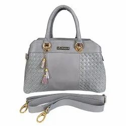 Genuine Leather Ladies Bag With Embriodary