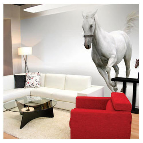 multi colour pvc sticker horse wall sticker, rs 80 /square feet | id
