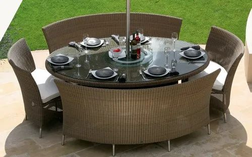 Outdoor Wicker Dining Table And Chair Set आउटड र ड इन ग स ट ब हर ड इन ग स ट Modern Furniture New Delhi Id 14531677873