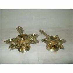 6 Flame Brass Diya