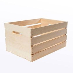 Open Crates Rectangular Pine Wood Crate, Capacity: 50 To 100 Kg, Size: 20x12x18 Inch