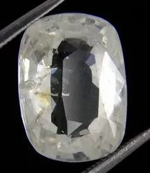 Proaom Solution 6 Ratti 100% AAA Quality White Sapphire(Ceylon) by Lab Certifed