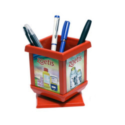 Zoetis Square Revolving Pen Holder