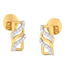 D-star Jewellery Gold Diamond Earrings