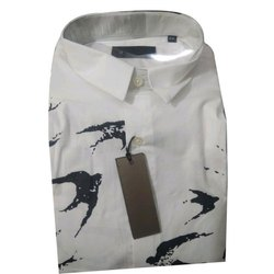 Mens Designer Print Cotton Shirt