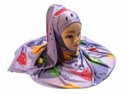 Digital Printed Jersey Stretchable Material Hijab Scarves Dupatta For Women