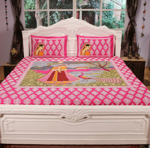 Superior Cotton Double Bed King Size Bedsheet   Wholesale Price