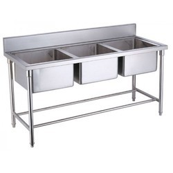 SS Three Kitchen Sink Unit