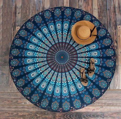 Mandala Round Tapestry Picnic Mat Table Cover Yoga Mat