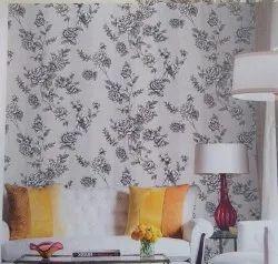 VTC Flower PVC Designer Wallpaper, For Home