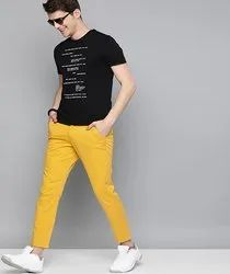 Espon Cotton Men Stretched Washed Chino Trousers, Size: 28-36