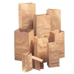 Brown Kraft Paper Grocery Bags, Size: 1/2 and 1 kgs