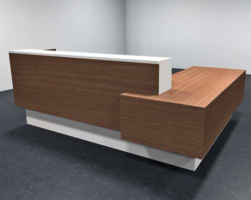 office reception counter. Brown And White Office Reception Counter