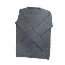 Nandan Gray Mens Plain Sweater