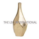 Decorative Flower Vase Mett Golden Finish