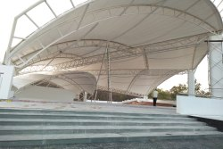 FRP Waterproof Eco Friendly Entrance Tensile Structure