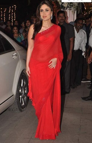 38db5f654b Red Kareena Kapoor Bollywood Design Saree 542, Rs 1046 /piece | ID ...