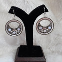 Oxidised German Silver Round Earrings