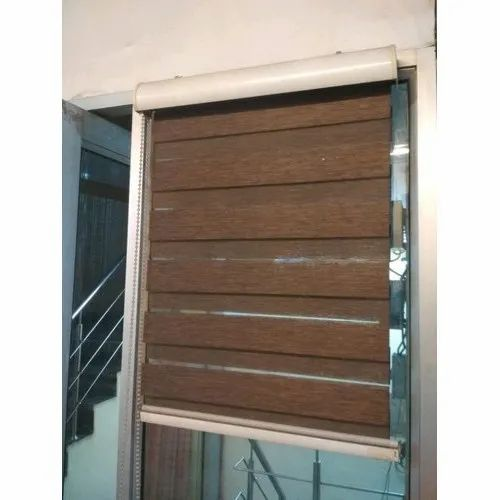 Brown Pvc Wooden Window Blinds