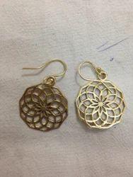 Brass Net Earring