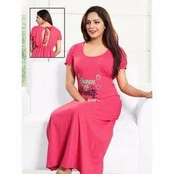Night Wear Ladies Pink Gown