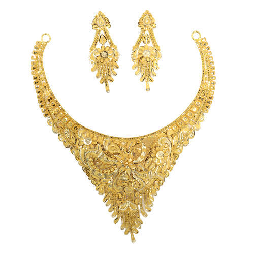 Gold Jewellery Set Gold & Gold Jewellery