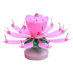 Rotating Musical Flower Birthday Candle Packaging Type Box Packet
